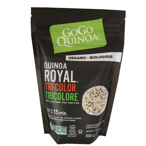 GoGo Quinoa: Organic Sprouted Tri-Color Royal Quinoa (375g)