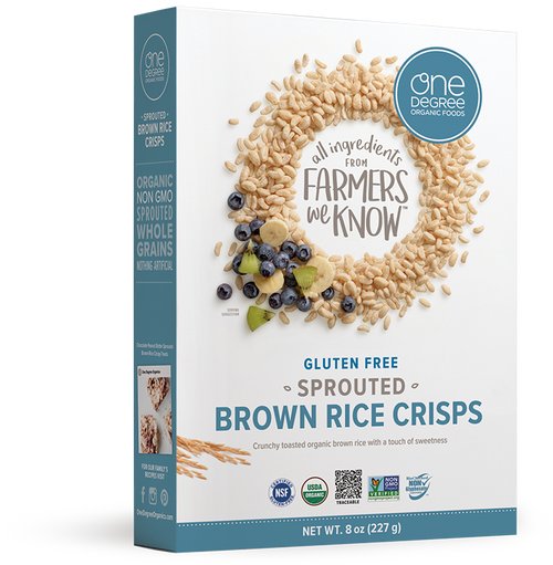 One Degree Organic: Veganic Sprouted Brown Rice Crisps (227g)