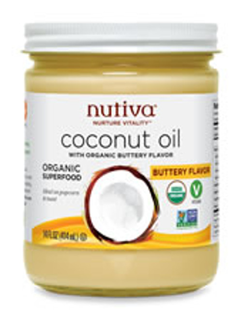 Nutiva: Organic Coconut Oil - Buttery Flavor (414ml)