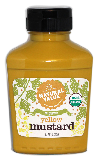 Natural Value: Organic Prepared Yellow Mustard (255g)