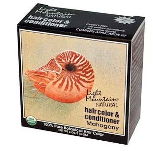 Light Mountain Natural: Hair Color & Conditioner - Mahogany (113g)