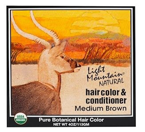 Light Mountain Natural: Hair Colour & Conditioner - Medium Brown (113g)