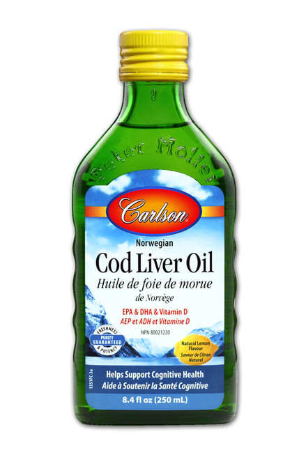 Carlson: Cod Liver Oil - Lemon (250ml)