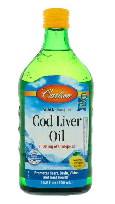Carlson: Cod Liver Oil - Lemon (500ml)