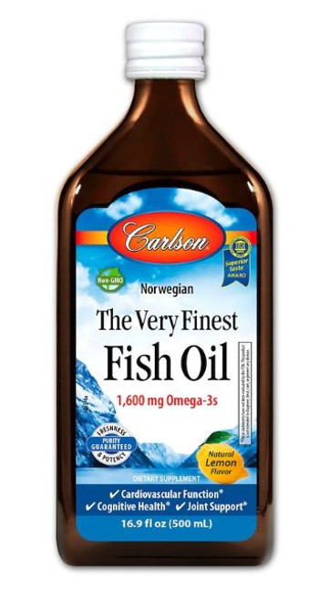 Carlson: The Very Finest Fish Oil - Lemon (500ml)
