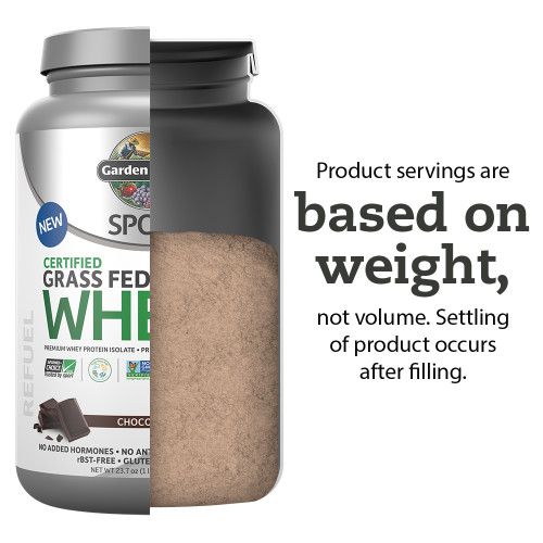 Garden of Life: SPORT Certified Grass Fed Whey Protein Powder - Chocolate (672g)
