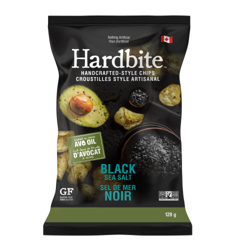 Hardbite: Avocado Oil Potato Chips - Black Sea Salt (128g)