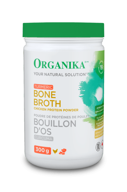 Organika: Chicken Bone Broth Protein Powder - Turmeric (300g)