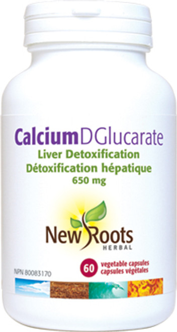 New Roots Herbal: Calcium D Glucarate (60 Vegetable Capsules)