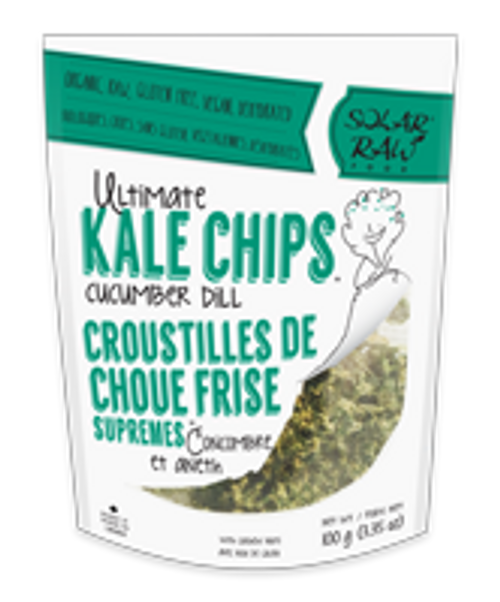 Solar Raw: Ultimate Kale Chips - Cucumber Dill (100g)