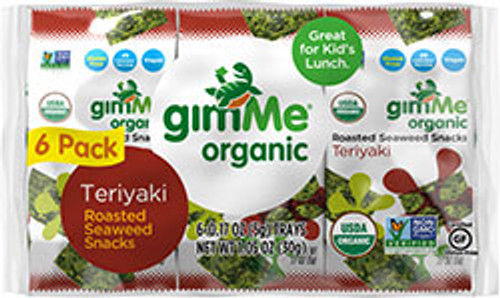 Gimme Organic: Roasted Seaweed Snacks - Teriaki (6 Packets)