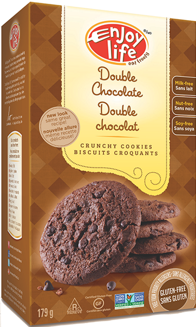 Enjoy Life: Double Chocolate Crunchy Cookies (179g)