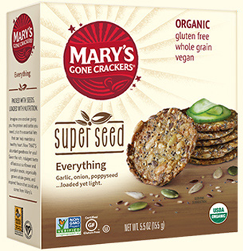 Mary's Organic Crackers: Super Seed Crackers - Everything