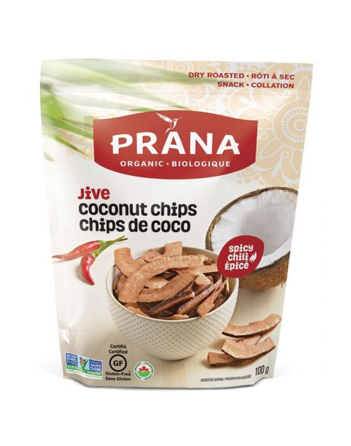 Prana: Dry Roasted Coconut Chips - Jive Spicy Chili (100g)