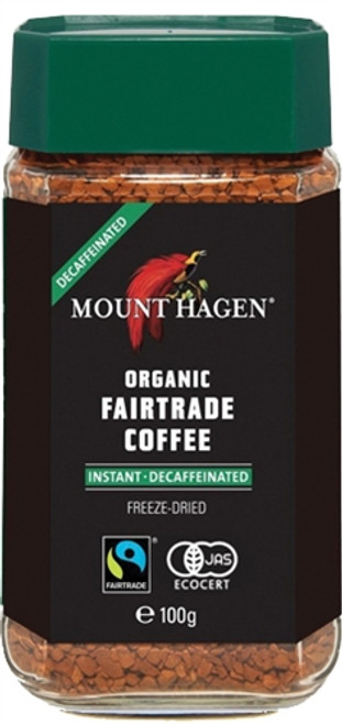Mount Hagen: Organic Cafe Instant Decaffeinated Coffee (100g)