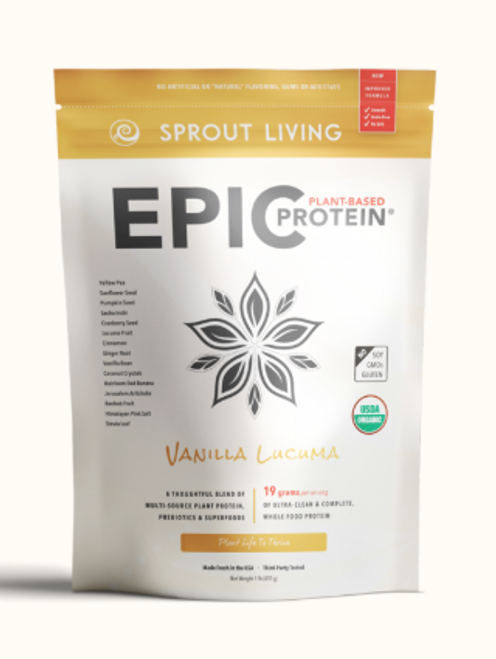 Sprout Living: Epic Plant-Based Protein - Vanilla Lucuma (455g)