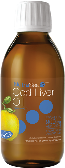 NutraSea: NutraSea+D Cod Liver Oil -Zesty Lemon Flavour (200ml)