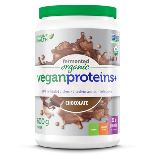 Genuine Health: Fermented Organic Vegan Proteins+ - Chocolate (600g)