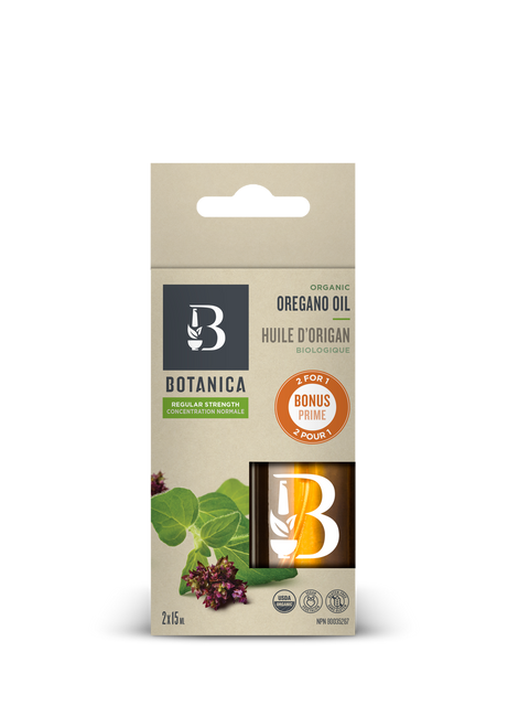 Botanica: Organic Oregano Oil Regular Strength (2x15ml)
