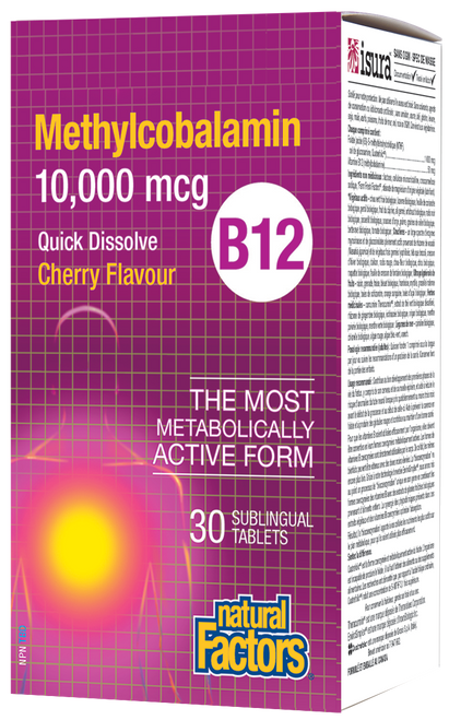 Natural Factors: Methylcobalamin B12 - Cherry Flavour (30 Sublingual Tablets)