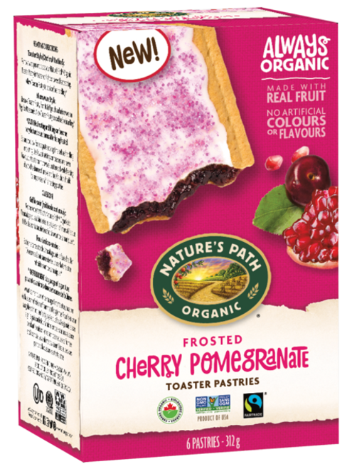 Nature's Path: Frosted Cherry Pomegranate Toaster Pastries