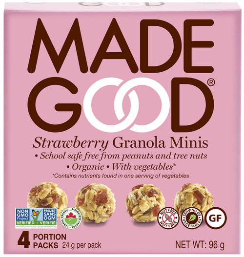 Made Good: Strawberry Granola Minis (4 x 24g)