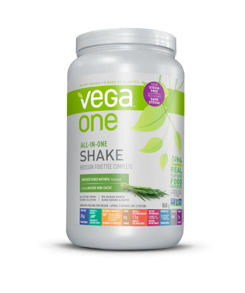 Vega One All in One Shake - Unsweetened Natural (860g)