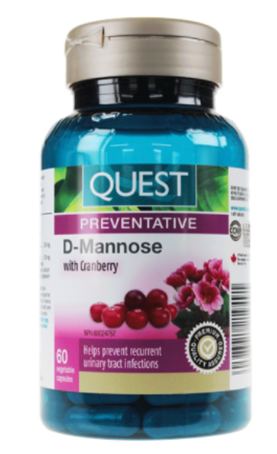 Quest: D-Mannose with Cranberry (60vcaps)