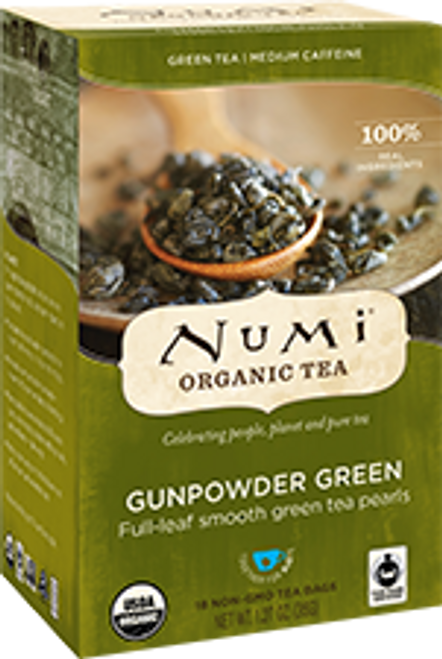 Numi: Organic Gunpowder Tea (18 Tea bags)