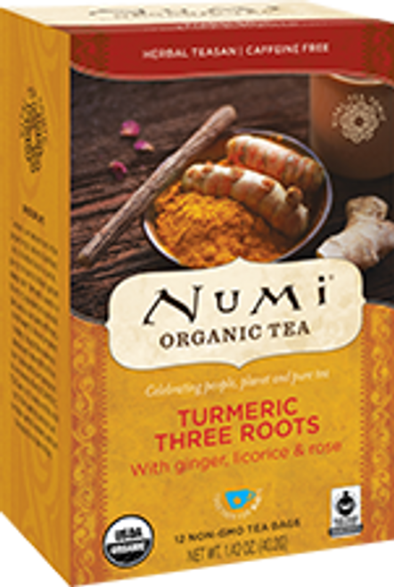 Numi: Organic Turmeric Three Roots Tea (18 Tea bags)