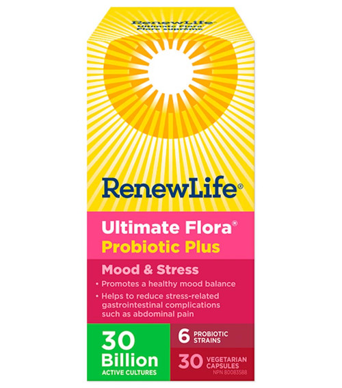 Renew Life: Ultimate Flora Probiotic Plus Mood and Stress (30VCAPS)