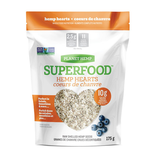 Planet Hemp: Superfood Raw Hulled Hemp Hearts (350g)