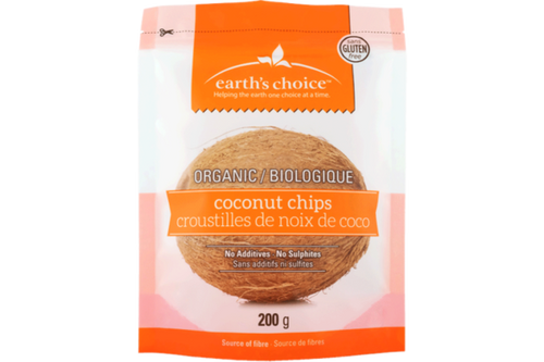 Earth's Choice: Organic Coconut Chips (200g)