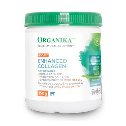 Organika: Enhanced Collagen MCT Creamer - Boost Unflavored(150g)