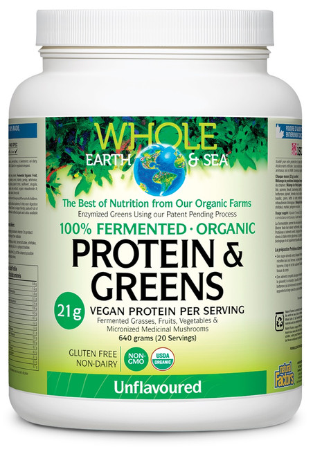 Natural Factors: Whole Earth And Sea Protein & Greens-Unflavoured