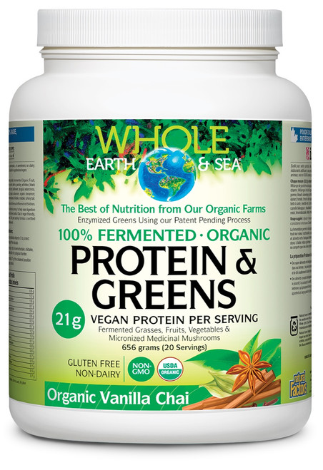 Natural Factors: Whole Earth And Sea Protein & Greens- Vanilla Chai