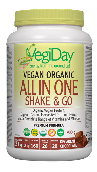 VegiDay: Vegan Org All In One Shake & Go Decadent Chocolate