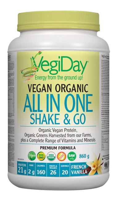 VegiDay: Vegan Org All In One Shake & Go French Vanilla