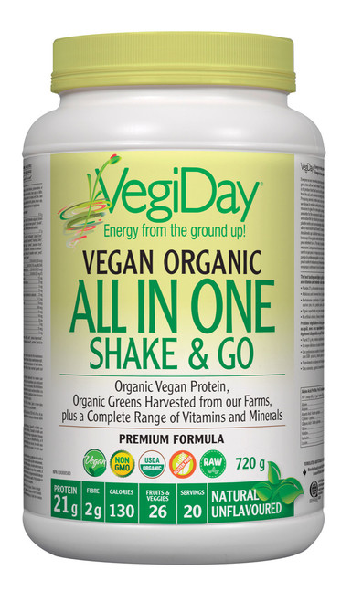 VegiDay: Vegan Organic All In One Shake & Go - Natural