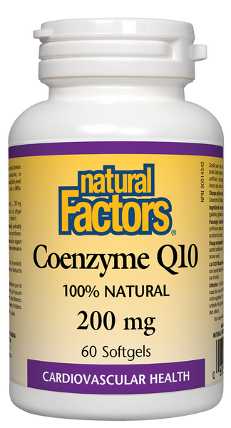 Natural Factors: Coenzyme Q10 (200mg) (60 SoftGels)