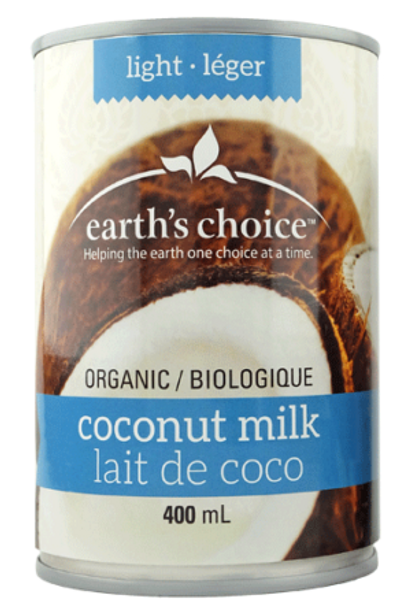 Earth's Choice: Organic Lite Coconut Milk (400ml)