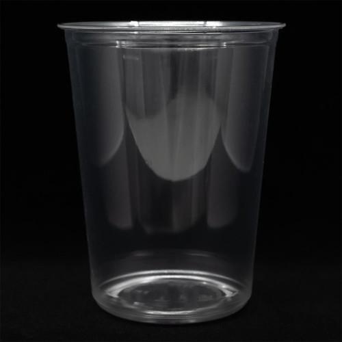 Fabri-Kal Recycleware 32 oz. Clear PET Plastic Round Deli Container - 500/Case