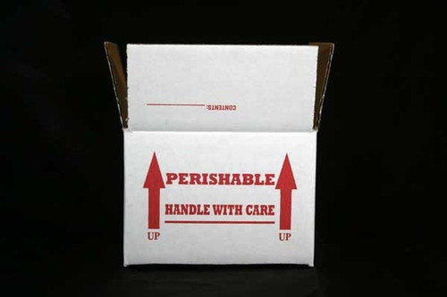 """6x6x4  Insulated Shipping Box with1/2"""" Foam 5 Pack"""