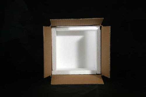 "6x6x4  Insulated Shipping Box 1/2"" Foam 30 Pack"
