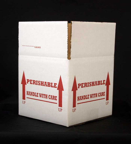 "7x7x6 Insulated Shipping Box with 1/2"" Foam 15 Pack"
