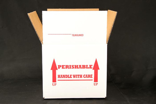 "8 x 8 x 7 Insulated Shipping Box with 1/2"" Foam 100 Pack"