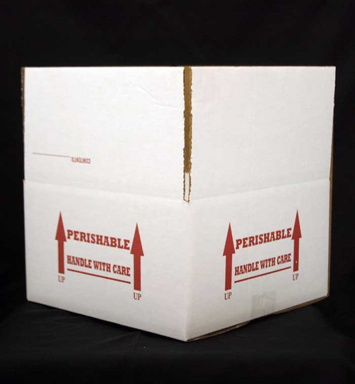 "11x11x6 Insulated Shipping Box with 1/2"" Foam 8 Pack"