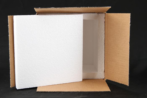 """8 x 8 x 7 Insulated Shipping Box with 3/4"""" Foam 12 Pack"""