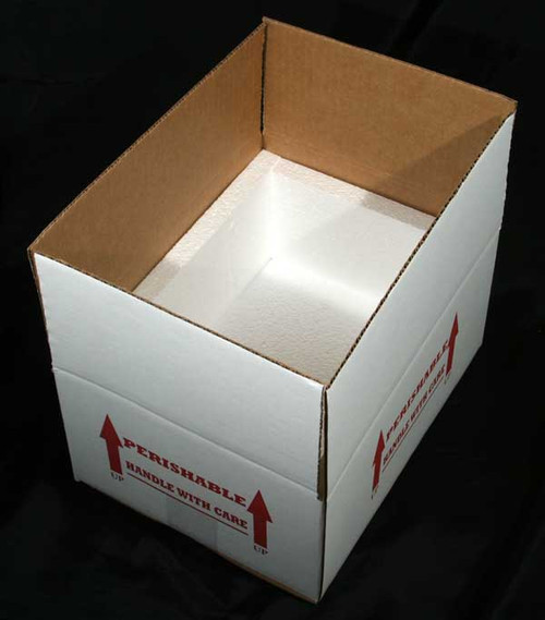 """12x9x6 Insulated Shipping Box with 3/4"""" Foam 100 Pack"""