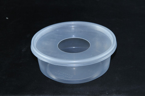"""Water Bowl 8oz with 1.5"""" Hole Lids 50 Count"""
